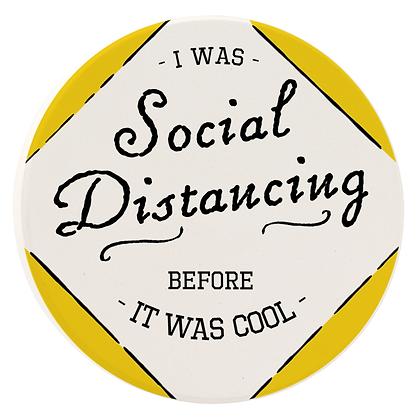 Social Distance Car Coaster