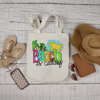 The Beach is Calling Canvas Bag