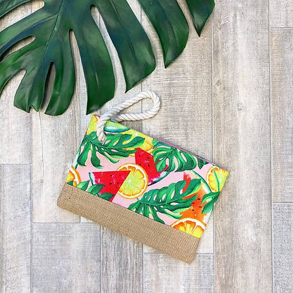 Tropical Watermelon Rope Wristlet
