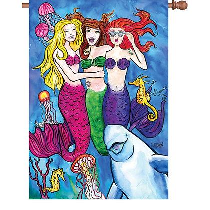 #Mermaidsquad House Flag 28x40