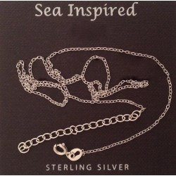 """Cable Chain, Thin, Sterling Silver 16-18"""""""