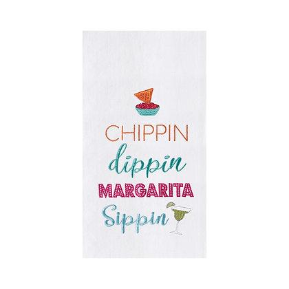 Margarita Sippin Flour Sack Kitchen Towel
