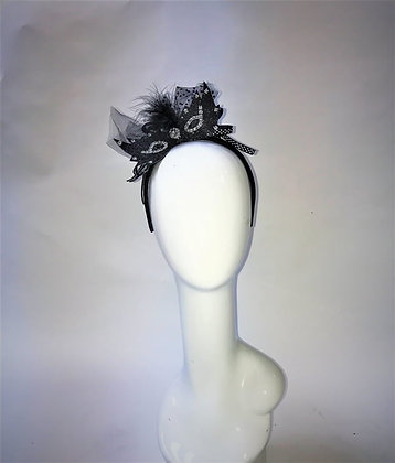 Halloween - Black & Silver Bat Mask Hair Band