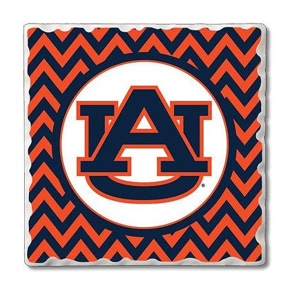 Auburn University Tumbled Coaster Set - 4 pack