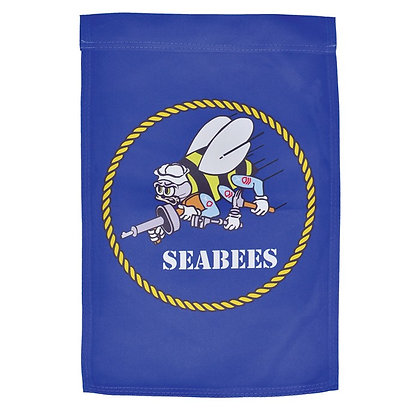 U.S. Navy Seabee Lustre Garden Flag 12x18