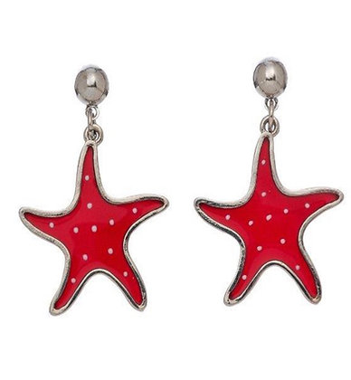 Stained Glass Starfish Earrings