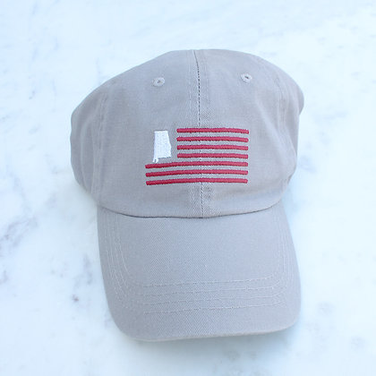 AL American Flag Baseball Grey/Red/White Hat One Size