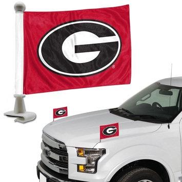 Georgia University Ambassador Car Hood Flag Set 4 x 6