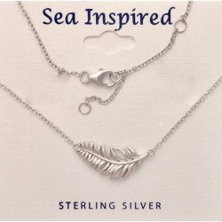 """Feather Necklace with 16 + 2"""" Extender"""