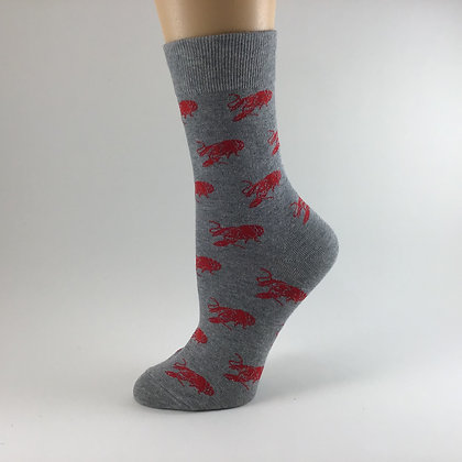 Crawfish Socks Gray Large