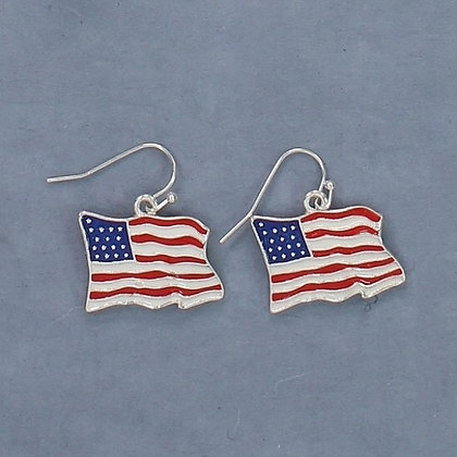 Red White and Blue Flag Earrings