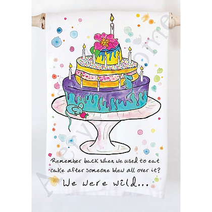 We Were Wild - Birthday Cake Kitchen Towel