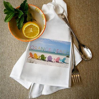 Orange Beach Alabama Colorful Beach Chairs Towel
