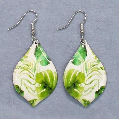 Green Banana Leaves Earrings