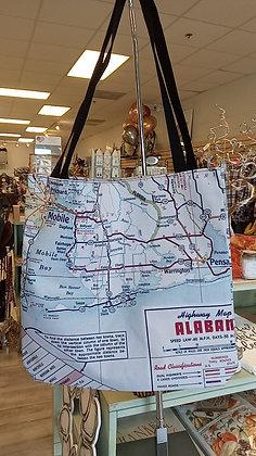 Gulf Shores, Orange Beach, Alabama Map Purse