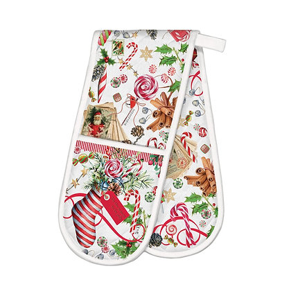 Peppermint Double Oven Glove