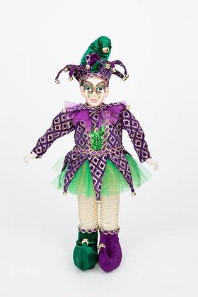 "Mardi Gras Standing Mask Jester 18"""
