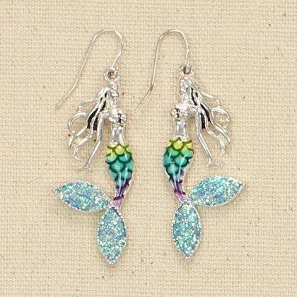 Sparking Blue Mermaid Earrings