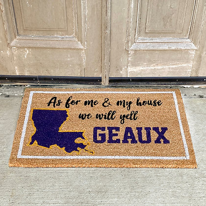 We Yell GEAUX Coir Doormat 30x18