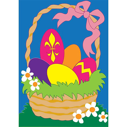 Easter Basket Large House Flag
