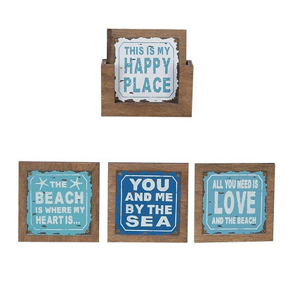 Beach Sayings Coasters - Set of 4