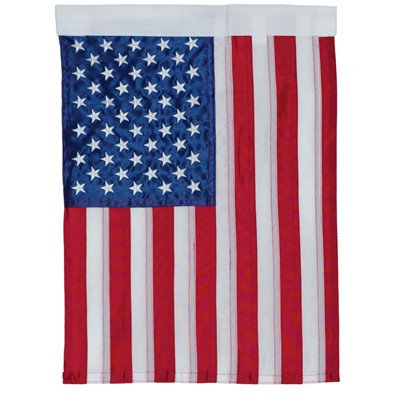 US Flag Embroidered Garden Flag