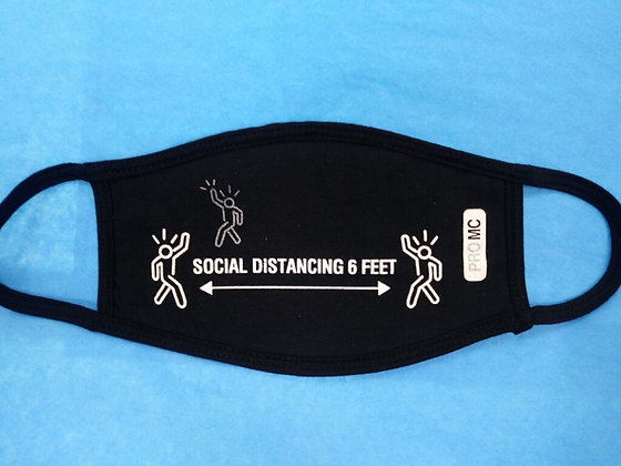 Social Distancing Face Mask Black