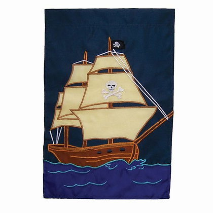 Pirate Ship Garden Flag 12x18