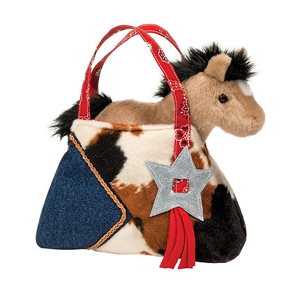 Western Sassy Sak with Buckskin Horse