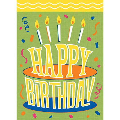 Happy Birthday Garden Flag 13 x 18