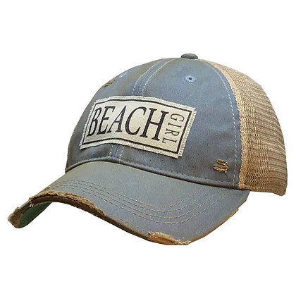 Beach Girl Distressed Trucker Cap