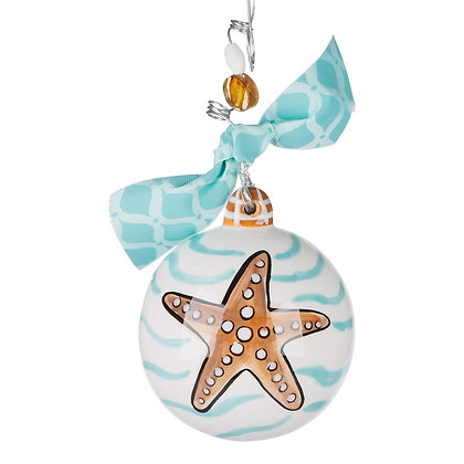 Beachy Little Christmas Ornament Orange Beach