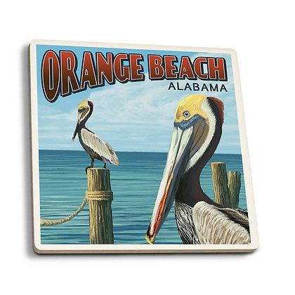 Orange Beach Alabama Pelican Coaster