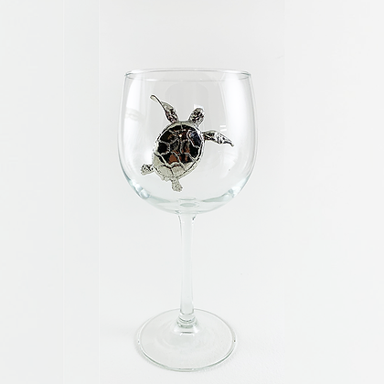 Turtle Red Wine Goblet copyright by Maurice Milleur