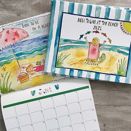 How to Live at the Beach 2021 Calendar