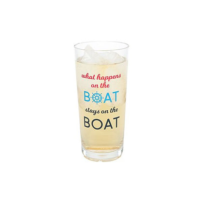 What Happens On the Boat Stays On the Boat Glass