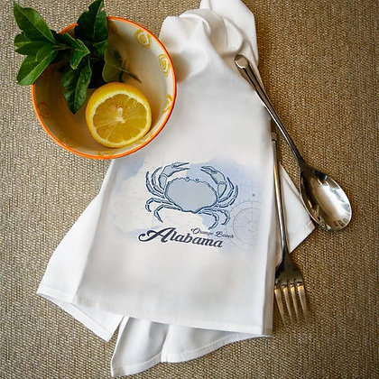 Orange Beach Alabama Blue Crab Towel