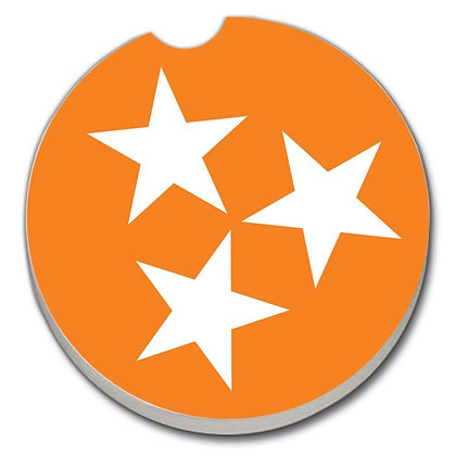Car Coaster - University of Tennessee Tri Star Orange