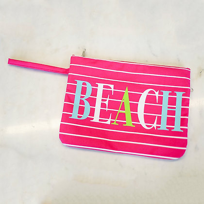 Beach Wet/Dry Bag in Pink - 12x9