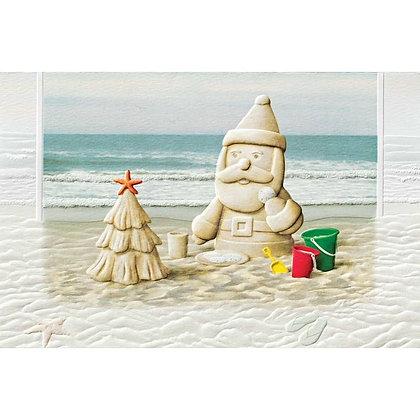 Sandy Claus Christmas Cards