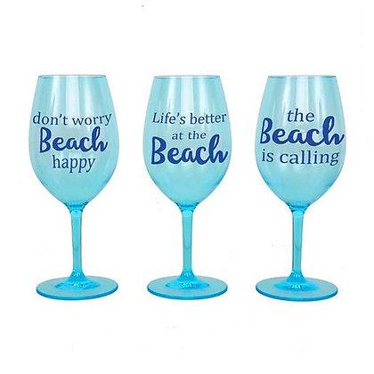 Beach Shatterproof Wine Glass