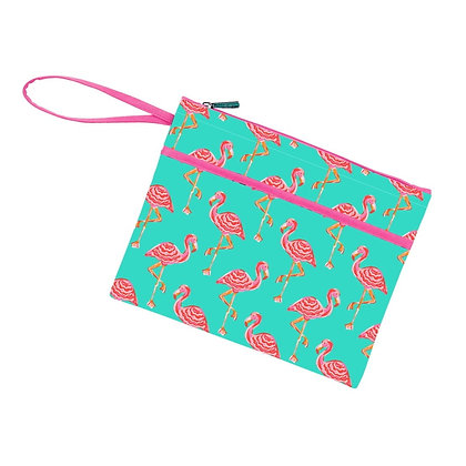 Tickled Pink Flamingo Pouch