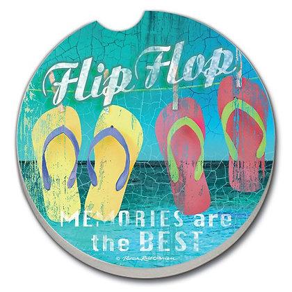 Car Coaster -The Beach Flip Flop