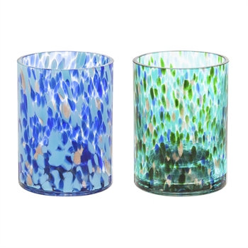 Glass LED Planter - set of 2