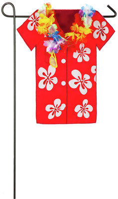 Hula Shirt Garden Flag
