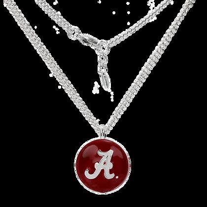 Alabama Round Enamel Necklace