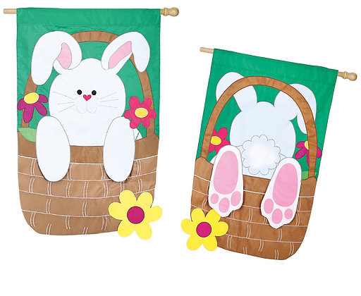 Bunny Basket House Flag
