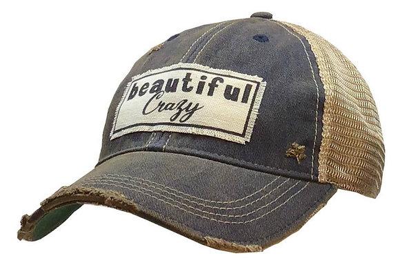 Beautiful Crazy Distressed Trucker Cap