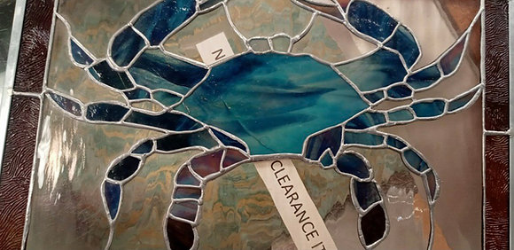 Blue Crab Stained Glass
