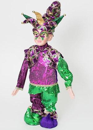 "Mardi Gras Purple Dazzler Jester 22"""